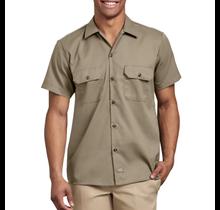 Dickies Men's Slim Fit S/S FLEX Twill Work Shirt  WS673DS