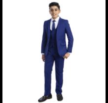 Perry Ellis Boy 5pc Suit Slim Fit PB363-12   (Big Boys)