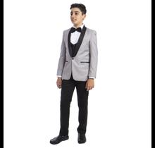 Perry Ellis Boy's 5pc Tuxedo Suit PBT283-5 (Young Adult)