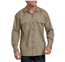 Dickies Men's FLEX Relaxed Fit Long Sleeve Twill Work Shirt WL675DS