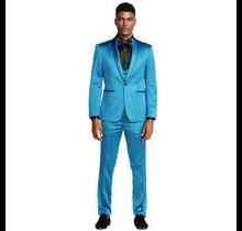 Tazio Men's Satin Slim Fit 3pc Suit M288SK-5