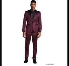 Tazio Men's Satin Slim Fit 3pc Suit M288SK-2