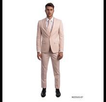 Tazio Men's 3 Piece Ultra Slim Fit Suit M255US -07