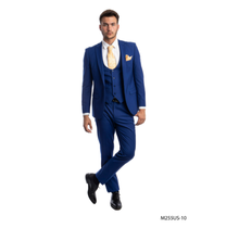 Tazio Men's 3 Piece Ultra Slim Fit Suit M255US -10
