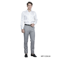 Tazio Italy Men's Slim Fit Plaid Dress Pants MP112SKGY