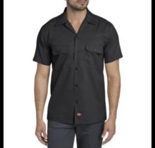 Dickies Men's Slim Fit S/S FLEX Twill Work Shirt WS673BK