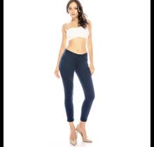 ENJEAN Women's Basic Solid Skinny Push Up Pants EP800NV