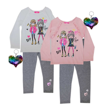 Girls Pink Girl's Girl's BFF Top and Legging Set 7361104 (4-6X)