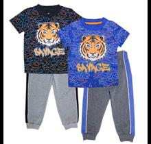 S1OPE Boy's Tiger Savage Top w/ Jogger Set 6221204 (4-7)