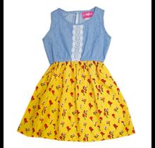 Girls Pink Girl's Chambray Floral Print Dress 3526904 (4-6X)