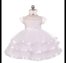 Wonser Little Girl's Dress w/ Matching Headband 7615  (Sizes 6M - 4T)