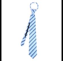 Clericci Men's Striped Zipper Tie MPWZ-BL4