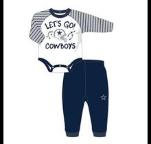 Dallas Cowboys Infant Touchdown L/S Creeper & Pant Set