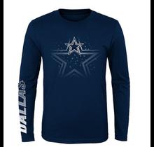 Dallas Cowboys Kids Platinum L/S T-Shirt