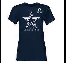 Dallas Cowboys 1960 Womens Premiere Crew Short Sleeve T-Shirt