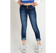 YMI Jeans Girl's 3-Button Roll Cuffed Skinny Jean GP222941