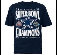 Dallas Cowboys Men's 1960 Back to Back Short Sleeve T-Shirt