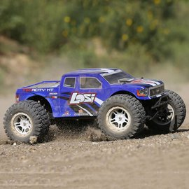 Losi 03012T2 1/10 TENACITY 4WD Monster Truck Brushless RTR with AVC, Blue