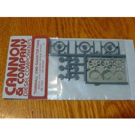 """Cannon & Company 1701 Thinwall EMD 48"""" Radiator Fans pkg(3) HO"""