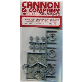 """Cannon & Company Cannon & Company 1702 Thinwall EMD 48"""" Radiator Fans pkg(3) HO"""