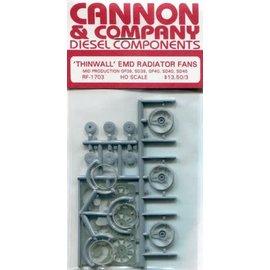 """Cannon & Company Cannon & Company 1703 Thinwall EMD 48"""" Radiator Fans pkg(3) HO"""
