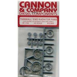 """Cannon & Company Cannon & Company 1705 Thinwall EMD 48"""" Radiator Fans pkg(3) HO"""