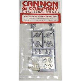 """Cannon & Company Cannon & Company 1707 Thinwall EMD 36"""" Radiator Fans pkg(4) HO"""