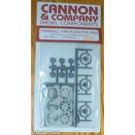 """Cannon & Company Cannon & Company 1704 Thinwall EMD 48"""" Radiator Fans pkg(3) HO"""