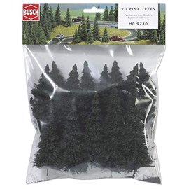 BUSCH 9740 Pine Tree Set pkg(20) HO
