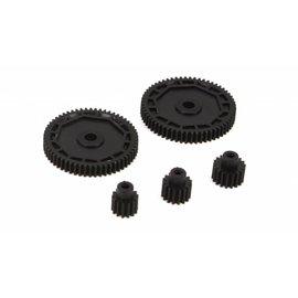 ECX 212002 Pinion & Spur Gear Set: 1/18 4WD All