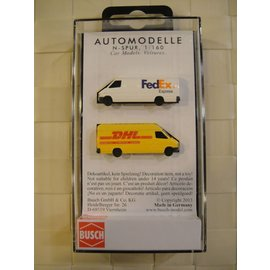 BUSCH 8304 Mercedes Sprinter pkg(2) -- 1 Each: FedEx & DHL N