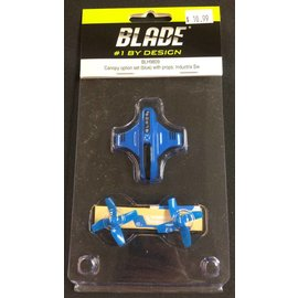 Blade 9809 Canopy Option Set with Props, Blue: Inductrix Switch