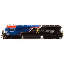 Athearn Genesis 65254 SD60E w/DCC & Sound,NS/Honor Our Veterans #6920 HO