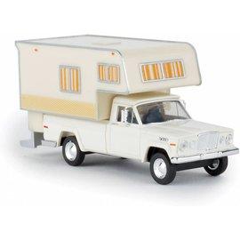 BREKINA 19830 1962 Jeep Gladiator Pickup Truck with Camper Body - Assembled