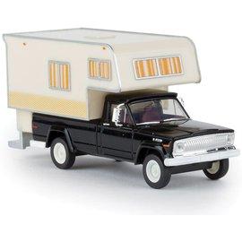 BREKINA 19832 1962 Jeep Gladiator Pickup Truck with Camper Body - Assembled HO