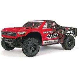 Arrma AR102667 1/10 Senton Mega 4x4 SC Truck RTR Rd/Blk