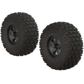 Arrma AR550043 Fortress SC Tire Set Glued Blk Chrm (2)