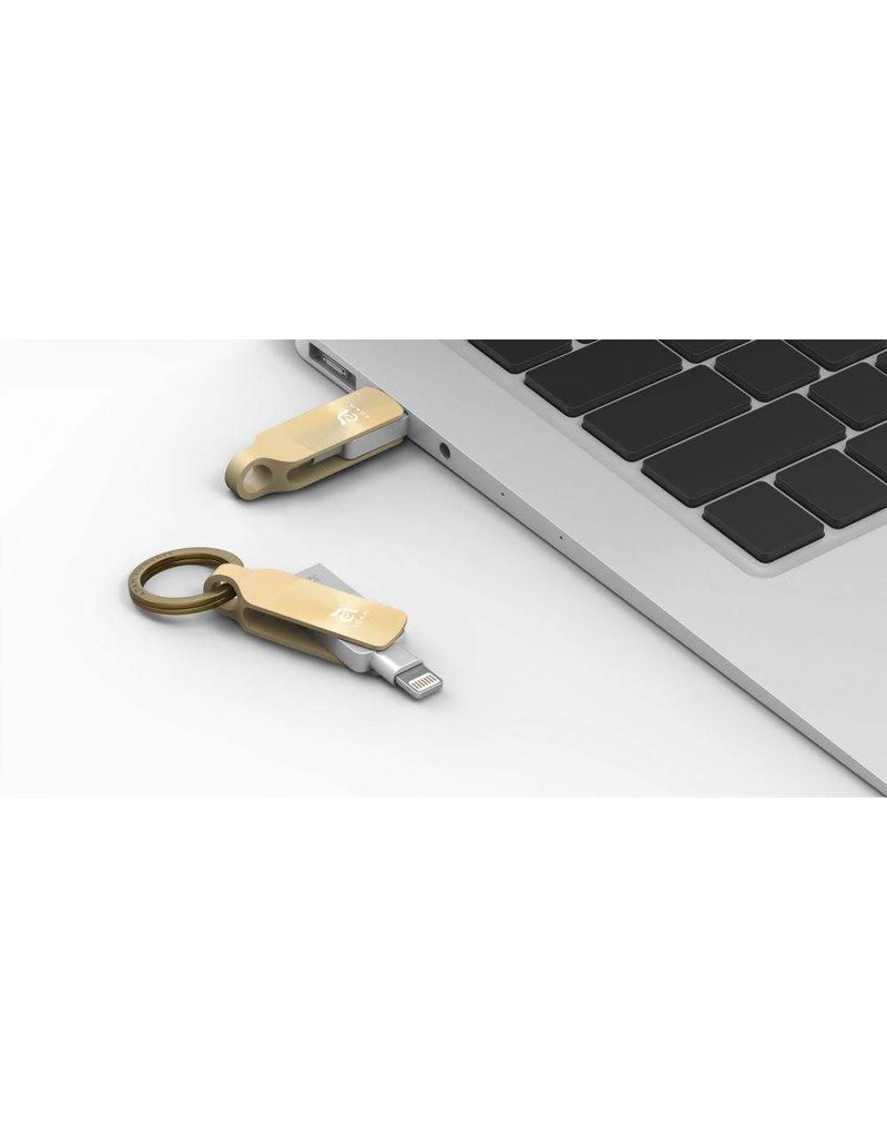 Adam Elements ADRAD64GKLDPGA Adam Elements iKlips Duo + Flash Drive for iOS Devices 64GB Gold
