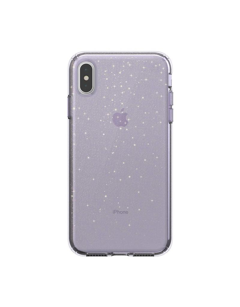 Speck Speck  Presidio Clear + Glitt  iPhone XS Max - Geode Purple /Gold Glitter