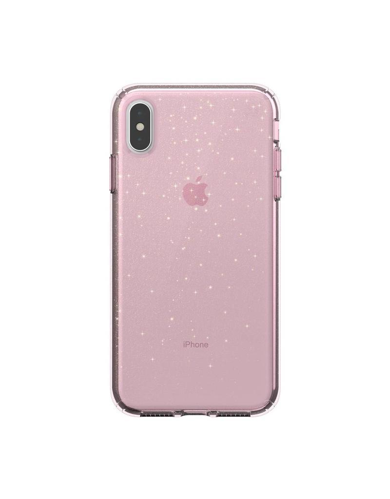 Speck Speck  Presidio Clear + Glitt  iPhone XS Max - Bella Pink /Gold Glitter