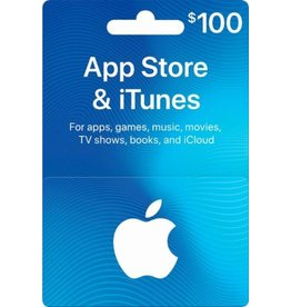 APPLE APPLE ITUNES CARD USD $100.00