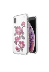 Speck Speck  Presidio Clear + Print iPhone XS Max - Embroidered Floral Fuchsia/Clear