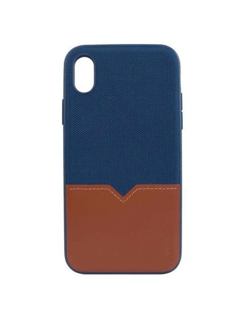 Evutec Evutec Northill Series Case w/Vent Mount for iPhone XS Max - Blue / Saddle