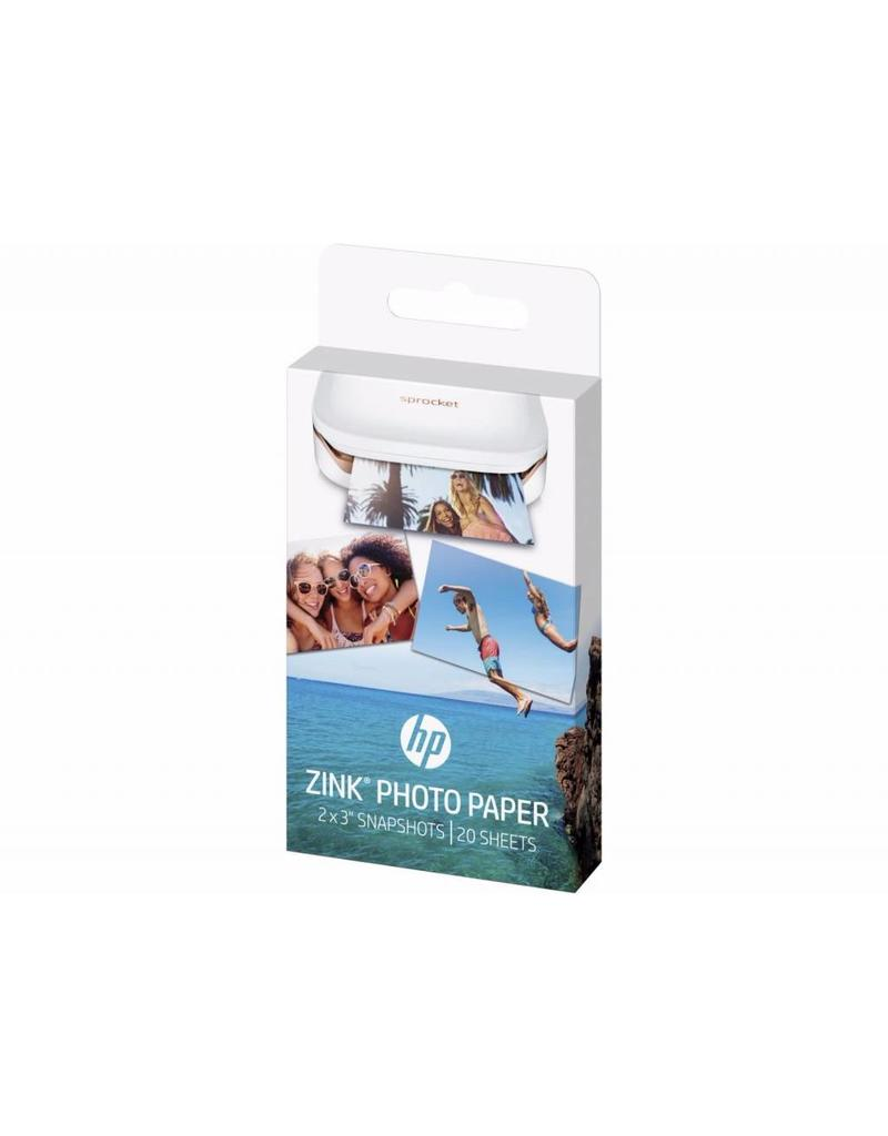 "HP HP ZINK Sticky Backed Photo Paper For Sprocket Mini Printer 2"" x 3"""