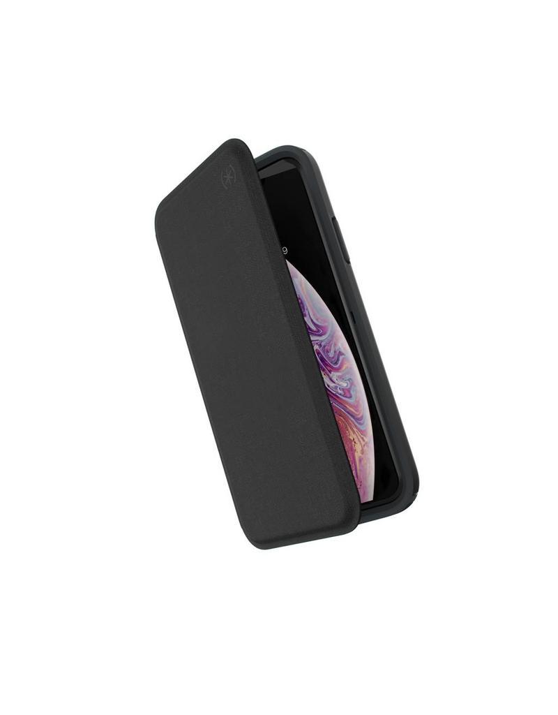 Speck Speck (Apple Exclusive) Presidio Folio for iPhone X/XS - Heathered Black/Black/Slate Grey