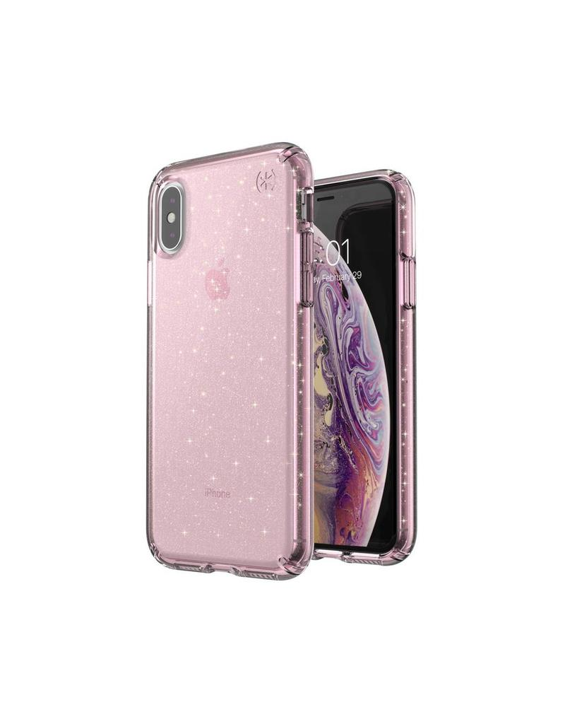 finest selection 81eab be901 Speck Speck Presidio Clear + Glitt for iPhone X/XS - Bella Pink With Gold  Glitter/Bella