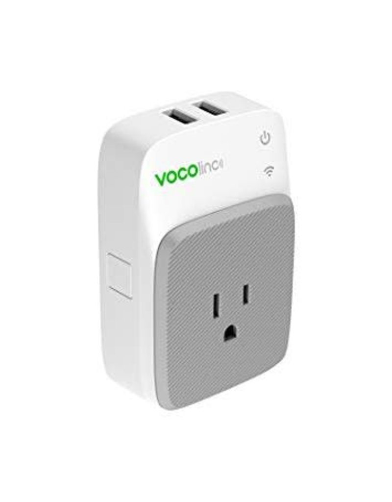 VOCOLINC VOCOlinc Smart WiFi Outlet Plug Night Light & 2 USB Charging Ports