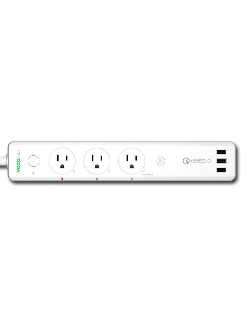 VOCOLINC VOCOlinc Smart Wi-Fi Power Strip 3 USB w/QuickCharge