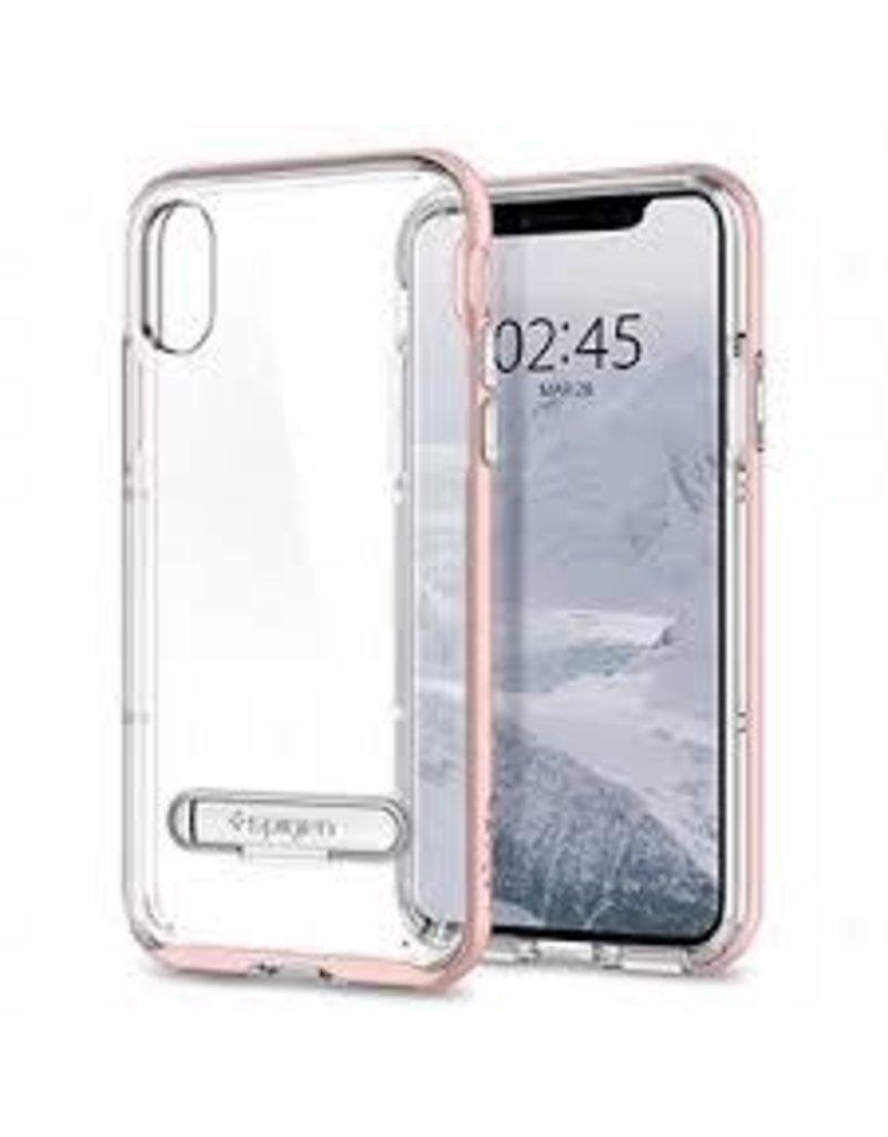 pretty nice b3876 af399 SPIGEN Spigen Crystal Hybrid Case for Apple iPhone X / XS - Rose Gold
