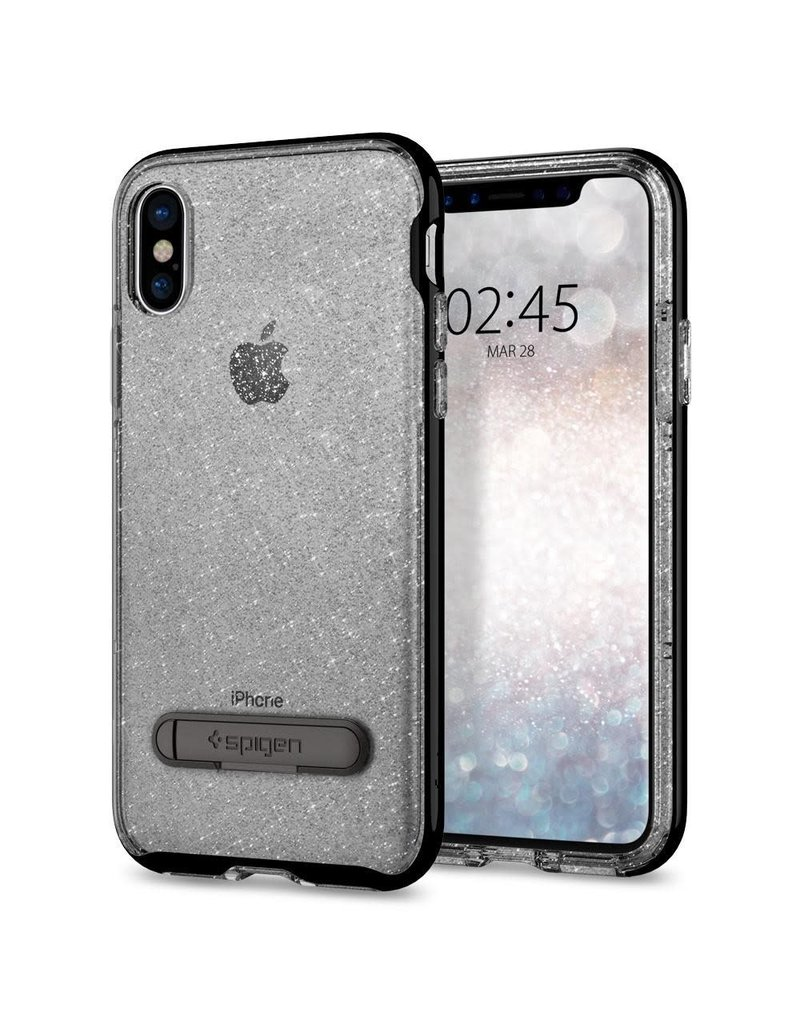 promo code f2cbd b3f36 SPIGEN Spigen Crystal Hybrid Glitter Case for Apple iPhone X / XS - Space  Quartz
